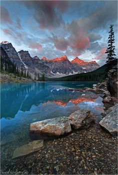 Would love to go here! Moraine Lake is located in the Valley of the Ten Peaks in Banff National Park, Alberta Canada. http://www.awesome-canada.com
