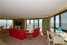 Living Area View Beachside Two 4286 - 3BR 2BA!  Awesome view! #beachfront #rental #sandestin #myvacationhaven