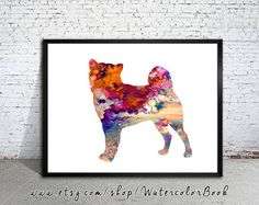 It's Chancey! Shiba Inu 2 Watercolor Print Shiba Inu art dog by WatercolorBook