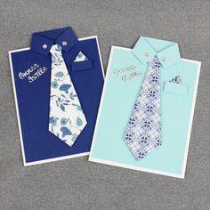 Tee isälle tai vaarille hauska paidanmallinen kortti. Solmioon voit käyttää kaunista kuviollista paperia Father, Day, Handmade, Father's Day, Pai, Hand Made, Dads, Handarbeit