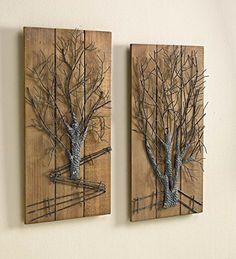 Metal Tree on Wooden Wall Art, Set of 2 Plow & Hearth https://www.amazon.com/dp/B01BMT34L4/ref=cm_sw_r_pi_dp_x_2w19xbQ0XF5WJ