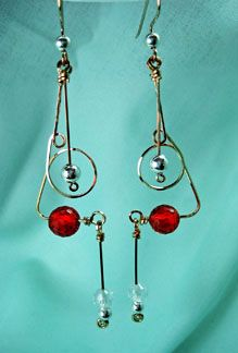 Abstract Earrings tutorial