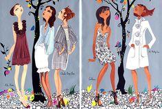 Fashion Illustration by Ruben Toledo. Nordstrom Ads | Interior Design Files