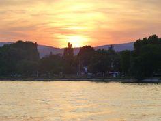 Sunset along the Rhine River on our Uniworld cruise