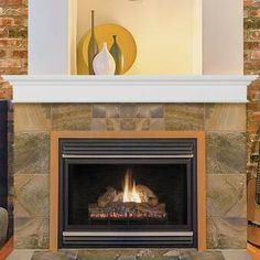 The Pearl Mantels Henry Fireplace Mantel Shelf in White Paint is a magnificent piece that is also versatile. Install it above your fireplace to create an dramatic focal point to your home or business. Wall Mounted Fireplace, Fireplace Mantel Surrounds, Wood Fireplace Mantel, Fireplace Shelves, Custom Fireplace, Wood Mantels, Rustic Fireplaces, Mantel Shelf, Fireplace Inserts