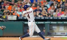 Astros' George Springer sets MLB record with latest leadoff home run = Houston Astros leadoff man George Springer started another game off with a home run on Tuesday night. This latest blast procured him a place in Major League Baseball's record book. Leading off nearly half of the Astros' games with a blast, Springer is the first player in MLB history to hit 4 leadoff home runs in…..