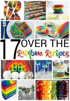 17 Over the Rainbow Recipes, Rainbow Cake Recipe, Rainbow Cupcakes, Rainbow Fruit Platter, Rainbow Food Ideas, Rainbow Brite Recipes