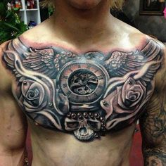 jewelry chest piece tattoos | 50 Unique Tattoo Ideas For Your Chest, Back, Arm, Ribs And Legs ...