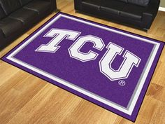 The TCU Horned Frogs 8x10 Area Rug by FanMats  - Texas Christian University