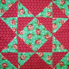envelope blk - farmers wife quilt #quilt block #half square triangles #hst