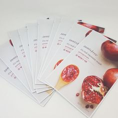 Innisfree It's Real Squeeze Facial Masks Pomegranate 20ml 3/8/16/35 Sheets Lot #Innisfree