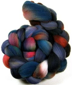 Mahogany Peacock Falkland wool top for spinning and by yarnwench, $15.75