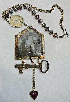 Jewelry 2 Key Jewelry, Funky Jewelry, Recycled Jewelry, Metal Jewelry, Jewelry Crafts, Jewelry Art, Jewelery, Vintage Jewelry, Handmade Jewelry