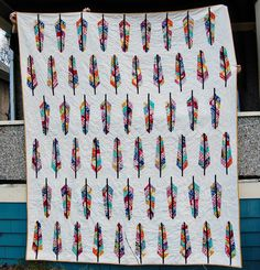 Awesome feather quilt @Cassie's Crafties