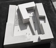 9 maquetes de cimento para representar projetos de arquitetura