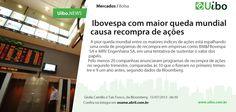 Ibovespa com maior queda mundial causa recompra de ações. http://conv.ly/bolsa