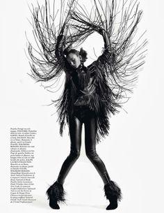 Tata Jazz Blog: Andreea Diaconu for Vogue Paris October 2013 by Inez & Vinoodh