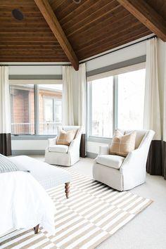 Open seating master bedroom