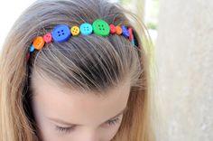 Multi-colored Button Headband, Via Etsy.