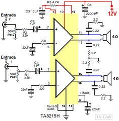 amplificador TA8215H TA8215L