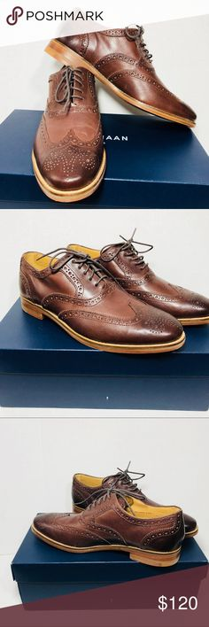 COLE HAAN CAMBRIDGE WING OXFORDS NWT COLE HAAN CAMBRIDGE WING OXFORDS  *NWT * DARK BROWN * SIZE 8 * BOX INCLUDED Cole Haan Shoes Oxfords & Derbys