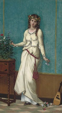 "James Bertrand (1823-1887), ""Ophelia"" 