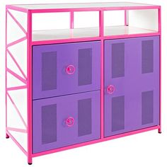 The fun, stylish design of this dresser features vivid colorways and plenty of storage space, making it a perfect addition for any young child's room.