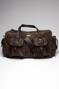 John Varvatos Large Duffle Bag. Sweet, big pockets!