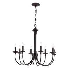 Add a dash of charm to your living room or dinette by fitting the gorgeous Charlton Home® Blue Heron 8 Light Chandelier on its ceiling. Simple yet eye-catching, this chandelier has beautifully curved arms that accommodate eight 60W candelabra base bulbs. Made from high-quality metal for optimum durability, it is available in a range of finishes to choose from. The Blue Heron 8 Light Chandelier by Charlton Home® has a colonial style, which is further accentuated by its delicate curves and…