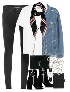 """Unbenannt #1116"" by flytotheunknown ❤ liked on Polyvore featuring Helmut Lang, Yves Saint Laurent, MANGO, Givenchy, Chanel, Off-White, Forever 21 and Daniel Wellington"