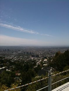 The view of the city from the Hollywood Hills