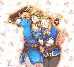 Link& Zelda - Breath of the Wild by @kaido_sakura | #BotW #NintendoSwitch