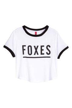 Camiseta corta de punto | H&M