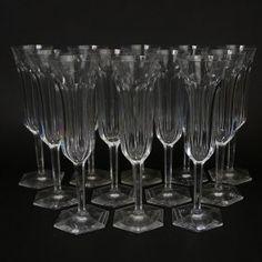 Twelve (12) Baccarat Malmaison Crystal Champagne