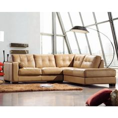 Soma Leather Sectional Sofa