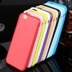 Promotions ! 12 Candy Color  Soft TPU Rubber Skin Cover Phone Case For iPhone 5 5s Mobile phone case Bag