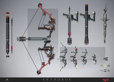 futuristic bow and arrow concept art - Google Search