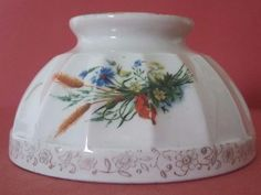 ANTIQUE FRENCH MAJOLICA BOWL - BOUQUET OF THE EARS OF WHEAT #Retro
