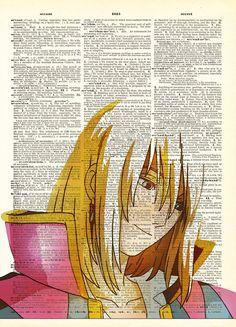 Smiling Howl Original Studio Ghibli Inspired Print by AvantPrint,
