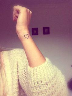 My love heart tattoo on my wrist