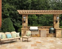 outdoor kitchen and fireplace pergola built in gas grill with big green egg backyard kitchen outdoor kitchen design patio 86 best kitchens fireplaces and living ideas images