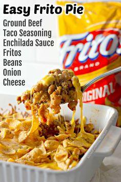 Beef Recipes For Dinner, Ground Beef Recipes, Mexican Food Recipes, Cooking Recipes, Easy Ground Beef Casseroles, Taco Pie Recipes, Salad Recipes, Ground Beef Taco Seasoning, Ground Beef Tacos