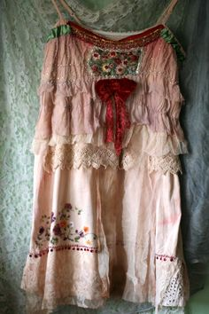 Daydreamer romantic tunic with tattered silks and by FleurBonheur
