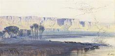 The Nile at Kaasr-es-Saiyyad by EDWARD LEAR (BRITISH, 1812-1888)