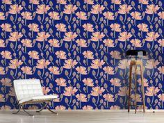 Design #Tapete Lotus Blumen Tanz