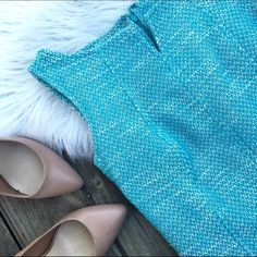 Talbots tweed dress Super chic tweed dress by talbots. Great condition! Perfect for spring! Talbots Dresses