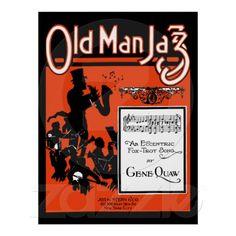 Old Man Jazz, An eccentric foxtrot song Poster (1920 sheet music cover remake)