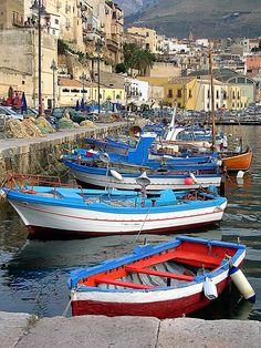 A picturesque Sicilian fishing village.
