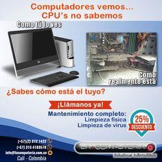 Mantenimiento completo con el 25% de descuento #LimpiarVirus #MantenimientoPC