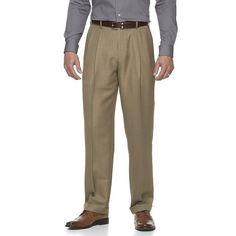 Men's Croft & Barrow® Essential Classic-Fit Flat-Front Dress Pants, Size: